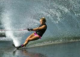Waterskiing on the south Wales coast